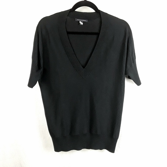 Banana Republic Sweaters - Black Banana Republic Silk Cotton Cashmere Sweater